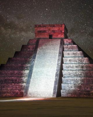Chichen Itza Pyramid in Mexico - Obrázkek zdarma pro 128x160