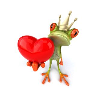 Valentine's Day Frog - Obrázkek zdarma pro 208x208