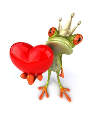 Valentine's Day Frog - Obrázkek zdarma pro Nokia Asha 203
