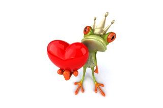 Free Valentine's Day Frog Picture for Android, iPhone and iPad