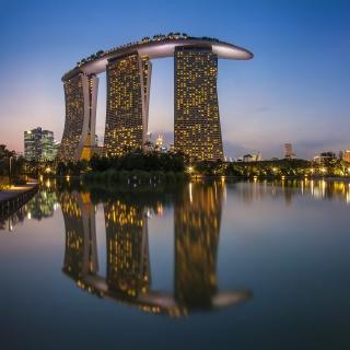 Singapore Marina Bay Sands Tower - Obrázkek zdarma pro iPad mini 2
