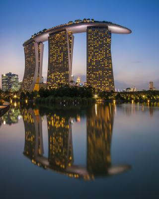 Singapore Marina Bay Sands Tower - Obrázkek zdarma pro Nokia 300 Asha