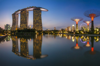 Singapore Marina Bay Sands Tower Picture for Android, iPhone and iPad