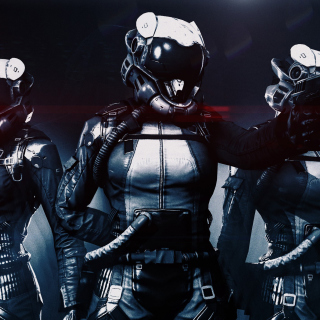 Cyborgs in Helmets - Obrázkek zdarma pro 320x320