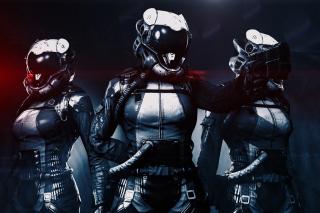 Cyborgs in Helmets - Obrázkek zdarma pro HTC Desire