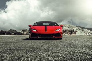 Free Lamborghini Huracan LP 610 4 Red Picture for Android, iPhone and iPad