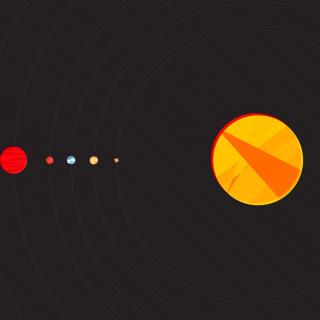 Solar System with Uranus - Obrázkek zdarma pro iPad mini
