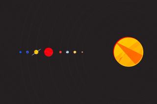 Solar System with Uranus - Obrázkek zdarma pro 1024x768