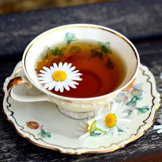 Tea with daisies - Obrázkek zdarma pro 208x208