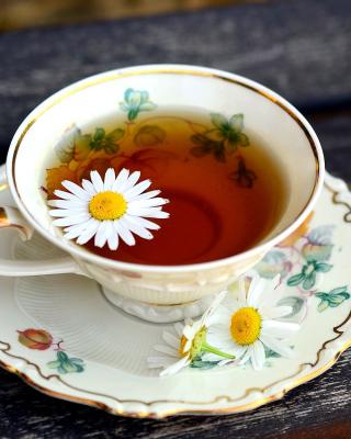 Tea with daisies - Obrázkek zdarma pro Nokia Lumia 520