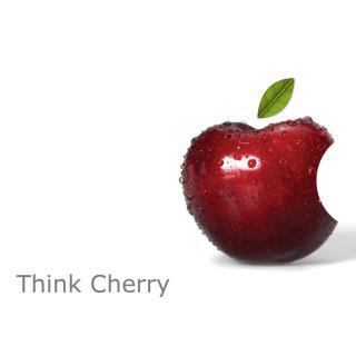 Apple Funny Logo - Obrázkek zdarma pro iPad 3