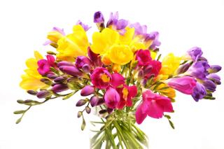 Summer Flowers Bouquet - Obrázkek zdarma pro Nokia Asha 210