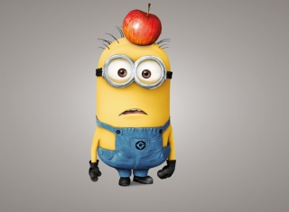 Minion With Apple Wallpaper for Android, iPhone and iPad