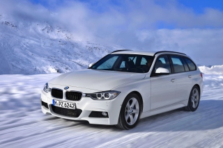 BMW 320d Wagon Background for Android, iPhone and iPad