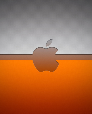 Grey And Orange Apple Logo - Obrázkek zdarma pro iPhone 3G