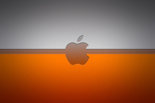 Grey And Orange Apple Logo - Obrázkek zdarma pro Sony Xperia E1