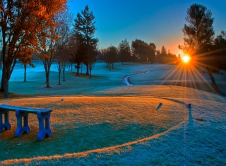 Winter Sunset Background for Android, iPhone and iPad