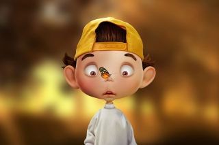 Boy And Butterfly - Obrázkek zdarma pro Samsung Galaxy Q