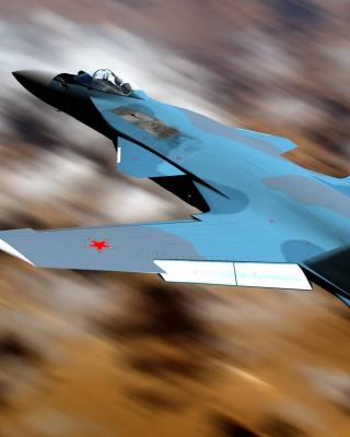 Sukhoi Su 47 Firkin Jet Fighter - Obrázkek zdarma pro 128x160