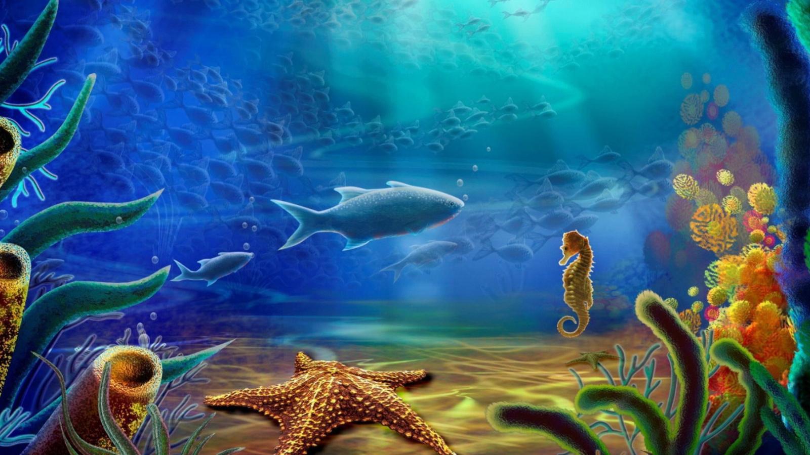 Screenshot №1 pro téma 3d Underworld 1600x900