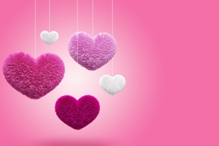 Fluffy Hearts Picture for Android, iPhone and iPad