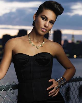 Alicia Keys - Obrázkek zdarma pro Nokia Asha 309