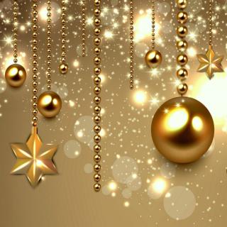 Golden Christmas Balls - Obrázkek zdarma pro iPad 2