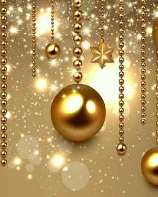 Golden Christmas Balls - Obrázkek zdarma pro Nokia Lumia 710