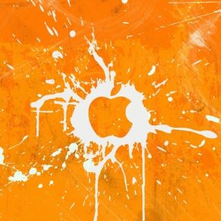 Apple Orange Logo - Obrázkek zdarma pro iPad mini 2