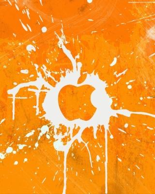 Apple Orange Logo - Obrázkek zdarma pro iPhone 5C