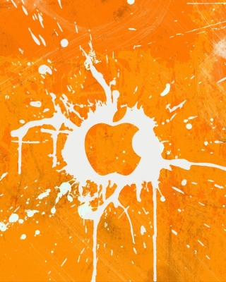 Apple Orange Logo - Obrázkek zdarma pro Nokia Asha 202