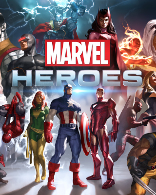 Marvel Comics Heroes - Obrázkek zdarma pro Nokia Asha 202