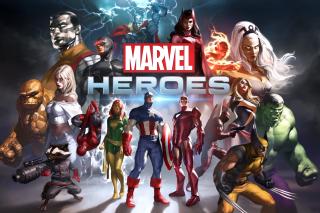 Marvel Comics Heroes - Obrázkek zdarma pro Samsung Galaxy S II 4G
