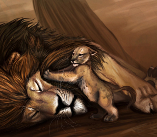 Lion King - Obrázkek zdarma pro 1024x1024
