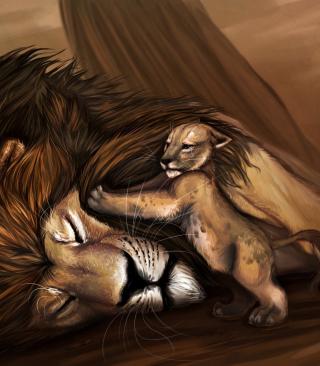Lion King - Obrázkek zdarma pro Nokia Asha 305