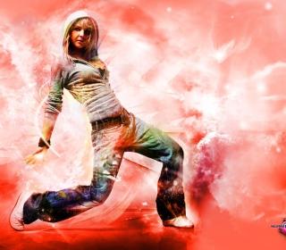 Break Dance Hot Girl - Obrázkek zdarma pro iPad