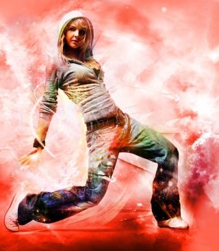 Break Dance Hot Girl - Obrázkek zdarma pro 480x640