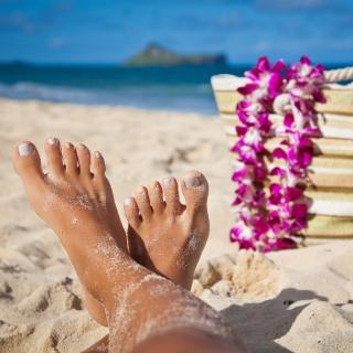 Relax on Barnes Bay Beach, Anguilla - Obrázkek zdarma pro 128x128