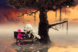 Little Red Riding Hood and Wolf - Obrázkek zdarma pro Desktop 1920x1080 Full HD