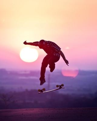 Sunset Skateboard Jump - Obrázkek zdarma pro Nokia Asha 309