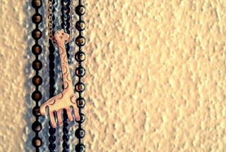Lovely Giraffe Pendant Wallpaper for Android, iPhone and iPad