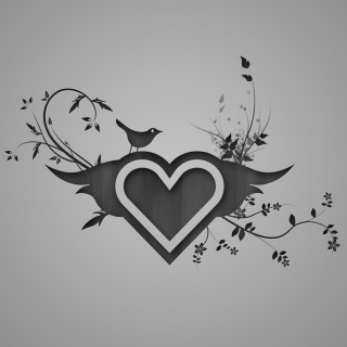 Bird Singing In Heart - Obrázkek zdarma pro iPad Air