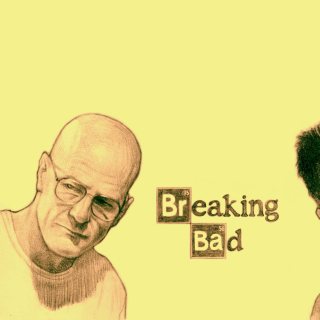 Walter White and Jesse Pinkman in Breaking Bad - Obrázkek zdarma pro iPad