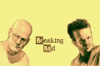 Walter White and Jesse Pinkman in Breaking Bad - Obrázkek zdarma pro Samsung Galaxy S4