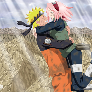 Uzumaki Naruto and Haruno Sakura - Obrázkek zdarma pro iPad 2