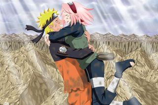 Uzumaki Naruto and Haruno Sakura - Obrázkek zdarma pro Samsung Galaxy Tab S 10.5