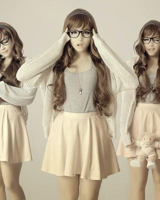 Girl In Funny Glasses - Obrázkek zdarma pro Nokia Asha 203