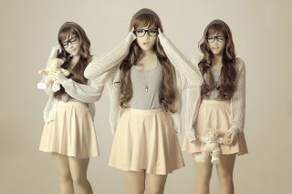 Girl In Funny Glasses - Obrázkek zdarma pro HTC Desire 310