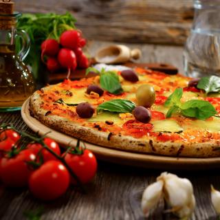 Homemade Pizza - Obrázkek zdarma pro 320x320