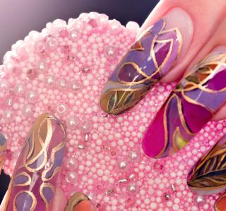 Acrylic Nail Art - Obrázkek zdarma pro 1024x1024